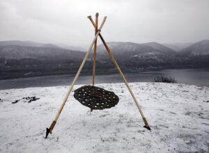 Ануфриев С.Е. Старое солнце. 2008 год. Фарфор, металл, искусственный камень