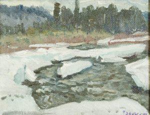 Белинский В.П. Весенний мотив. 1998 г. Холст, масло. 21х26.