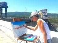 На Красноярской ГЭС открылась серия пленэров для красноярских художников