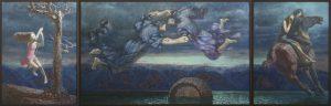 Триптих Легенда Байкала, 150х450см., хм., 2016г