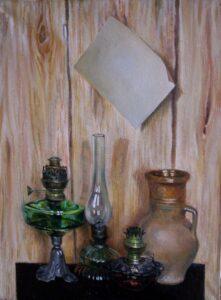 Карбушев С.С. Натюрморт с листом бумаги, 2006. Холст, масло. 80х60 см.