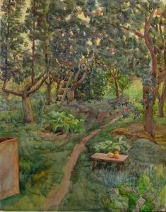 Зражевская В.Т. В саду, 1980