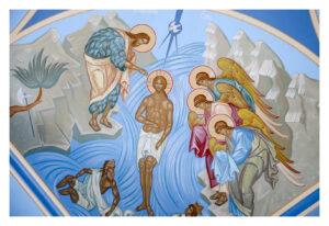 Привалихин Виктор. Фрагмент росписи потолка Свято-Введенского храма г. Сосновоборск. 2010 г.