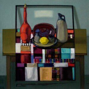 Рогачев Виктор. Пэчворк. 2007 г. Холст, масло. 80х80 см.