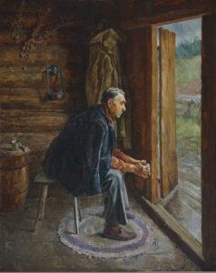 Непогода.Отец.1988г.х.,м.100х80.