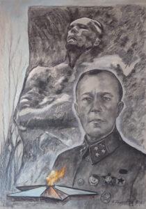 Памяти генерала Карбышева 100х70