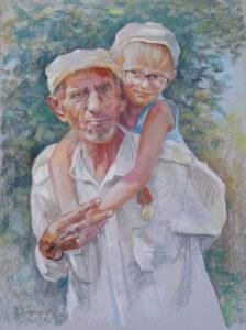 Дед с внуком. С Днём Победы!