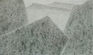 Прудников Д.В. Хакасия. Менгиры. 2013 г. Бумага, соус. 38х52 см.