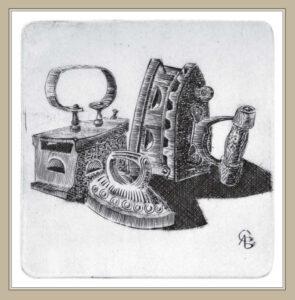 Сорокин А.В. Семья. 2001 г. Резцовая гравюра на меди. 21х16 см.
