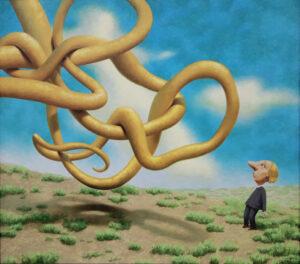 Краснов А.И. Воздушный змей. Холст, масло.