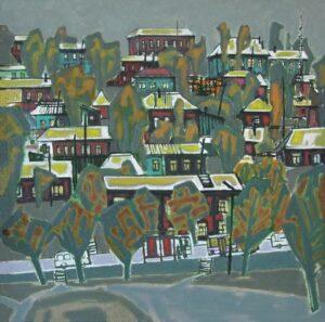 Рогачев В.И. Остановка. 2007. Холст, масло. 70х70