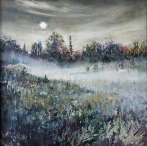 Бердюгина Н.А. Холодный туман. 2012 г. Холст, масло. 60х60 см.