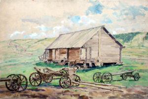 Лекаренко А.П. Деревня Творогово. 1946.