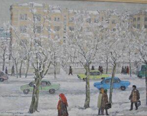 Лекаренко А.П. Ранний снег. 1978 г.