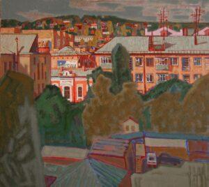 Рогачев В.И. Городской пейзаж. 2006 г. Холст, масло. 90х100 см.
