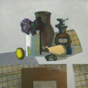 Рогачев В.И. Натюрморт с керамической статуэткой. 2003. Холст, масло. 70х70