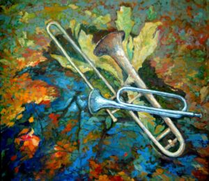 Музыка осени, хм, 70х80, 2012