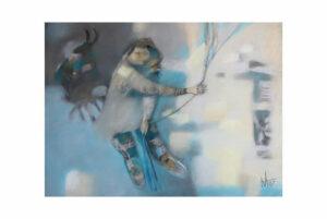 Афонов Ю.Н. Бросок. 2007 г. Бумага, пастель. 50х70 см.