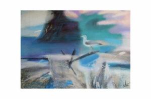 Афонов Ю.Н. Бургомистр из серии Пляжи озера Ламы. 2007 г. Бумага, пастель. 50х70 см.