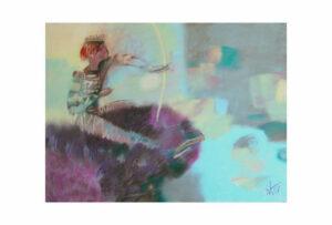 Афонов Ю.Н. Ночной охотник. 2007 г. Бумага, пастель. 50х70 см.