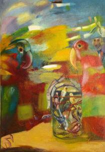 Бычинский В.Н., «Попугаи», холст, масло, 160х140, 2000