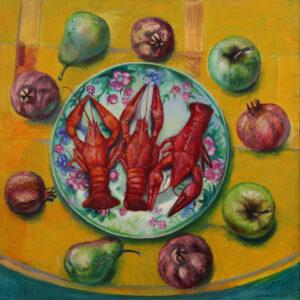 Бычинский В.Н., «Три богатыря», холст, масло, 90х90, 2008