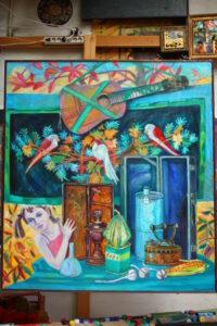 Бычинский В.Н., Взгляд из детства, хм, 140х120, 2010