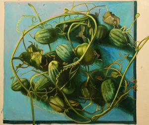 Бычинский В.Н., Зеленые растения, хм, 85х85, 2007