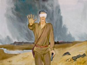 Кудринский В.И., Светлой памяти моего отца, Последний бой, он трудный самый, б.а, 70х100, 2015
