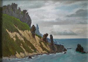 Кузаков Г.В. Берега о. Хокайдо. 1991 г. Холст, масло. 50х70 см.