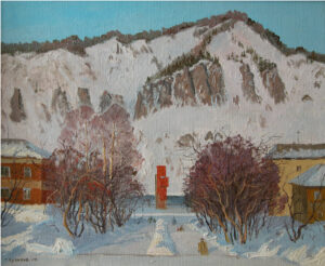 Кузаков Г.В. Дивногорск. Зима. 2003 г. Холст, масло. 51х61 см.