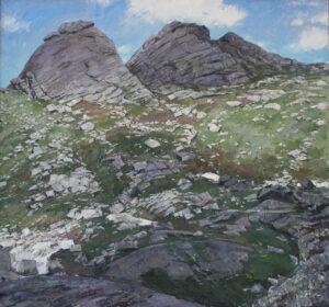 Перевал художников. Ергаки, х.м., 150х140 см., 2017 г.