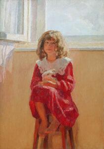 Пономарева М.Л. Даша. 2003 г. Холст, масло. 100х70 см.