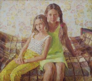 Пономарева М.Л. Девочки. 2001 г. Холст, масло. 69x77 см.