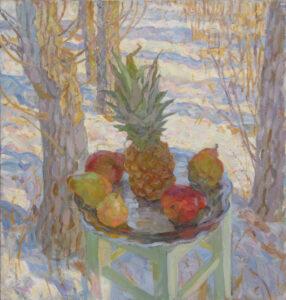 Пономарева М.Л. Натюрморт с ананасом. 2016 г. Холст, масло. 90х85 см.