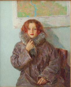 Пономарева М.Л. Путешественница. 1999 г. Холст, масло. 65х55 см.