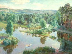 Пономарева М.Л. Светлое утро. 2003 г. Холст, масло. 170х195 см.