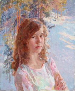 Пономарева М.Л. Вика. Зима. 2007 г. Холст, масло. 65х55 см.